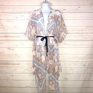 American Eagle Outfitters Floral Sheer Boho Kimono